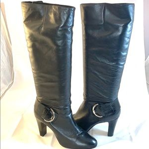 Shoes - Tall black leather boots Gianni Dini